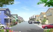 住宅街並みパース制作例5