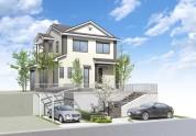住宅戸建てパース制作例3